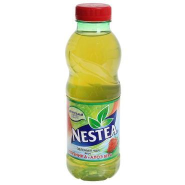 Напиток зелёный чай со вкусом клубники и алоэ вера Nestea 500 мл., ПЭТ