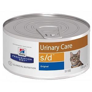 Консервы для взрослых кошек для лечения мкб Hill's Prescription Diet Feline s/d, 156 гр., ж/б