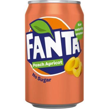 Напиток Fanta Peach Apricot Zero, 330 мл., ж/б