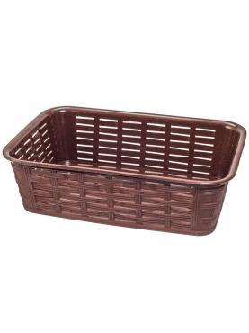 Корзинка для хлеба 228х152х72 мм., с чехлом прямоугольная пластик темно-коричневая Bora