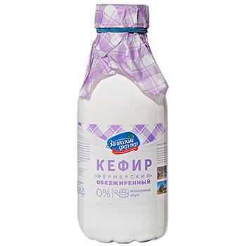 Кефир 0% Залесский фермер, 500 гр., ПЭТ