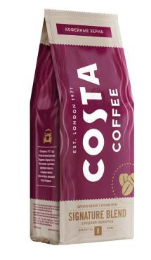 Кофе в зернах Costa Coffee Signature Blend, средняя обжарка, 200 гр., пакет