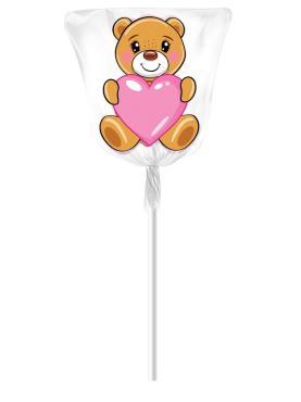 Карамель на палочке Sweet bar Мишка, 20 гр., обертка фольга/бумага
