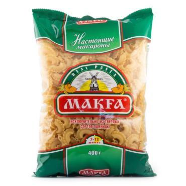 Макароны гребешки Makfa 400 гр., пластиковый пакет