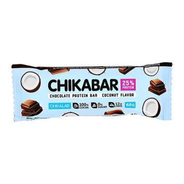 Протеиновый батончик кокос Chikalab, 60 гр., флоу-пак