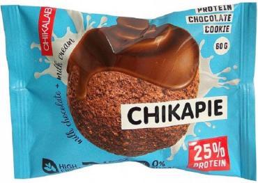 Протеиновое печенье шоколад с начинкой Chikalab, 60 гр., флоу-пак