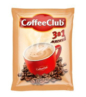 Кофе растворимый Coffee Club 3в1 Мягкий, 10 стрип-лент, 100 пакетиков, 18 гр