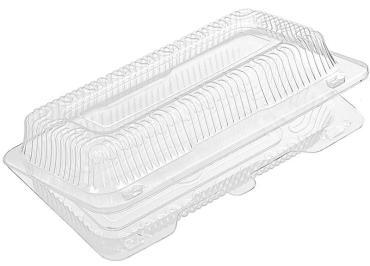 Упаковка прямоугольный прозрачная 500 гр., внешний 224х117х62 мм., внутри 187x80x58 мм., Комус