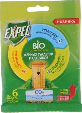 Биоактиватор для для дачных туалетов и септиков Expel, сашет