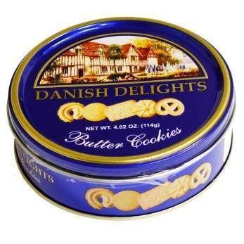 Печеньице Датское на сливочном маслице DANISH DELIGHTS, 114 гр., ж/б