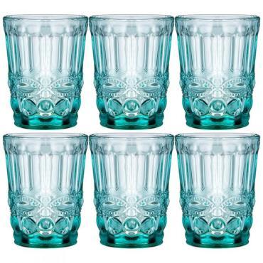 Набор стаканов, 6 штук, 270 мл., бирюзовый Lefard Серпентина Muza color