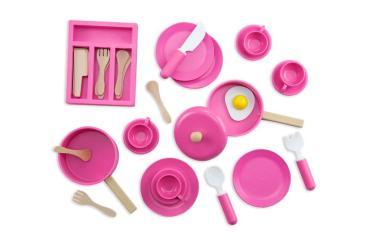 Набор посуды игровой детский деревянный Troys Тук-тук