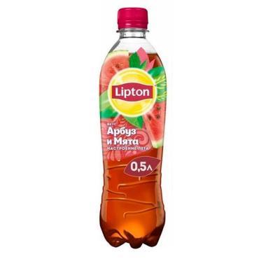 Холодный чай арбуз-мята, Lipton, 500 мл., ПЭТ