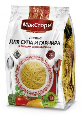 Лапша суповая из твердых сортов пшеницы МакСтори, 150 гр., пластиковый пакет