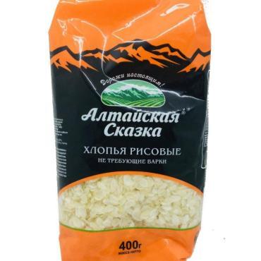 Рисовые хлопья Алтайская Сказка, 400 гр., пластиковый пакет