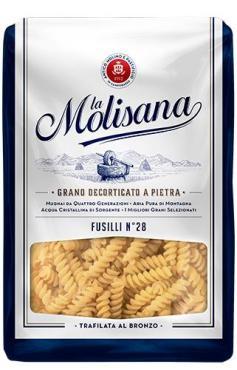 Макаронные изделия La Molisana 28C Fusilli, 500 гр., пластиковый пакет
