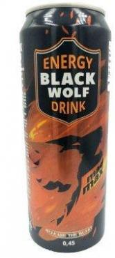 Напиток энергетичческий безалкогольный Black Wolf Mad Max, Black Wolf, 450 мл., ж/б
