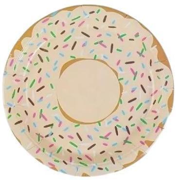 Тарелка бумажная набор 6 шт. Страна Карнавалия Пончик, 42 гр., пластиковый пакет