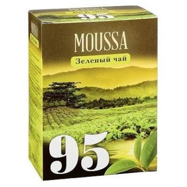 Чай зеленый 100 пакетиков Moussa №95, картон