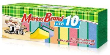 Губка для посуды Русалочка Market brend maxi, пластиковый пакет