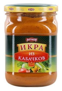 Икра овощная Ратибор из кабачков, 300 гр., стекло