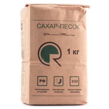 Сахар Регион Трейд белый, кристаллический, Гост, 1 кг., бумажная упаковка