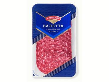 Колбаса Клинский МК Валетта сыровяленая, нарезка, 85 гр., пластиковая упаковка