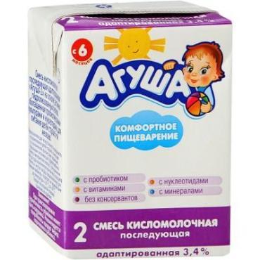 Смесь Агуша 1 детская кисломолочная 3,5%