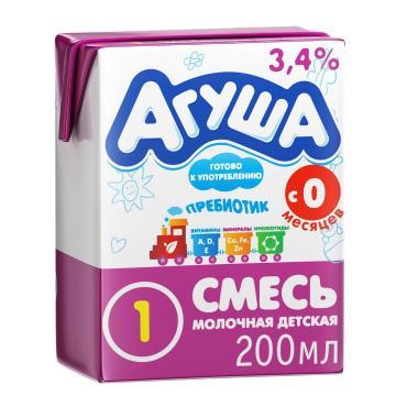 Смесь Агуша 1 детская кисломолочная 3,4%