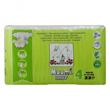 Подгузники Muumi Baby размер Max 7-14 кг 23 шт , картон