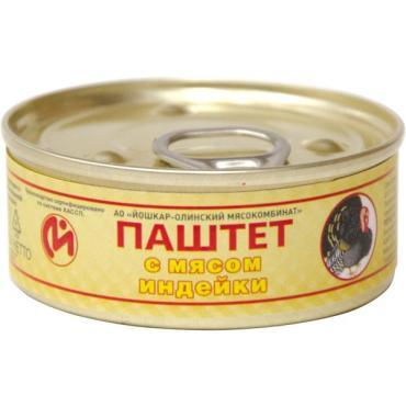 Паштет Золотой Урожай, из мяса индейки, 100 гр., ж/б