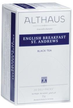 Чай Althaus English Breakfast St. Andrews черный в пакетиках, 20 пакетов, 35 гр., картон