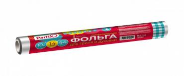 Фольга Parfix, пищевая 44 см., х 10 м., 14 мкм., 250 гр., обертка фольга/бумага