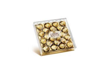 Конфеты шоколадные Ferrero Rocher, 300 гр., Пластиковая коробка