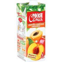 Нектар Моя семья Яблоко-персик-абрикос с мякотью
