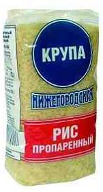 Рис пропаренный Крупа Нижегородская шлифованный