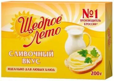 Маргарин Щедрое лето сливочным вкусом 72%