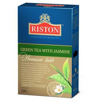 Чай Riston с жасмином листовой зеленый, 200 гр., картон