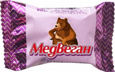Конфеты Медвеган Глазированные подсолнечник и изюм в мягкой карамели