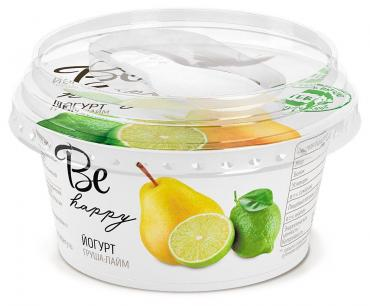 Йогурт Be happy груша-лайм 2,7%