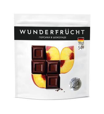 Конфеты Wunderfrucht Персик в темном шоколаде 54%