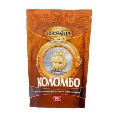 Кофе Московская кофейня на паяхъ Коломбо растворимый сублимированный 95 гр.