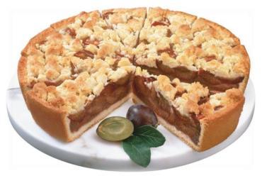 Пирог Erlenbacher Премиальный сливовый с масляной крошкой 12кус/уп, Германия