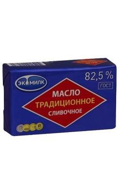 Масло Экомилк Традиционное 82,5% 450г
