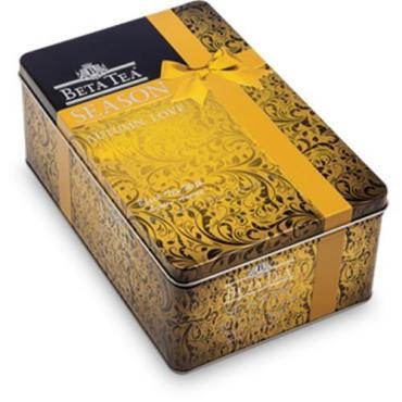 Чай черный,  Season Autumn love, 80 пакетиков по 2 гр.,  Beta Tea, 160 гр.,  жестяная банка