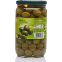 Оливки зеленые с косточками Fine Food, 700 гр., Стекло