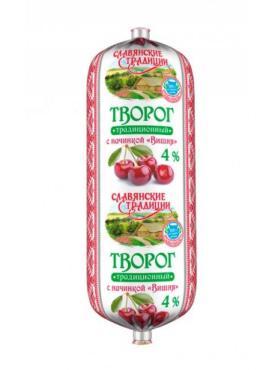 Творог Славянские традиции С вишней 4%