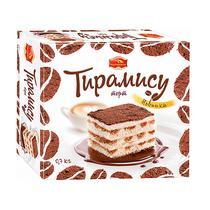 Торт Черемушки Тирамису бисквитный с кофейной пропиткой, Картонная коробка 700 г, (12 шт. в упаковке)