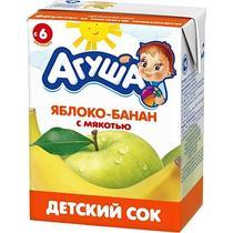 Сок Агуша Яблоко-банан с мякотью в упаковке с 6 месяцев