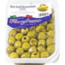 Оливки зеленые, без косточки, с приправами Fiore Fresco Olive Verdi Denocciolate, 250 гр., Пластиковая упаковка